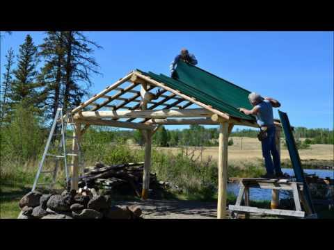 Building a Log Gazebo at Big Bar Lake