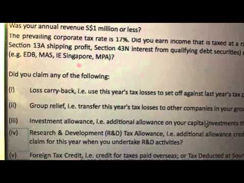 Tax filing for Companies in Singapore dateline Form C Form CS