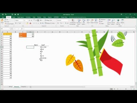 Create a Basic Stem and Leaf Plot