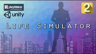 Download Create a Fun Life Simulator Game Using Playmaker & Unity - Lesson 2: Create a Basic User Interface Video