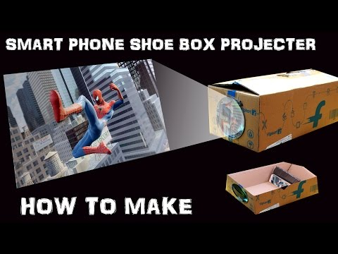 Turn Your Shoe Box Into Smartphone Screen Projector Enjoy The Movies