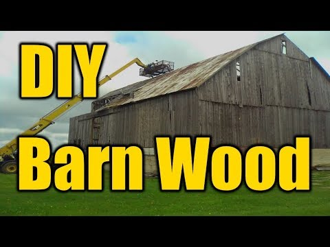 How To Make Reclaimed Barn Wood | THE HANDYMAN |