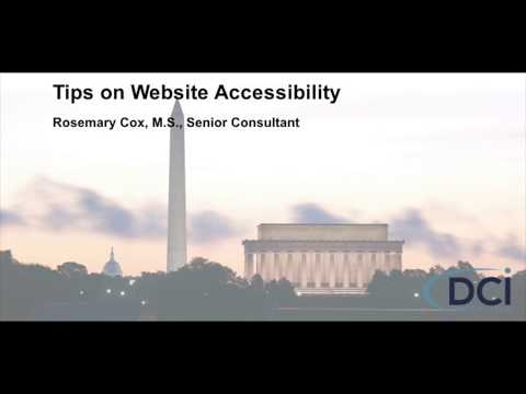 Tips on Website Accessibility