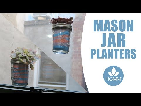 Succulent Mason Jar Planters