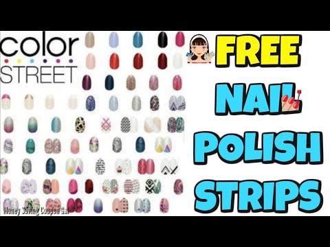 FREE NAIL POLISH STRIPS 💅
