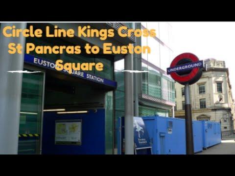 Circle Line S7 Stock Kings Cross St Pancras to Euston Square