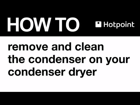 Cleaning your Hotpoint tumble dryer condenser at Appliancesconnection.com