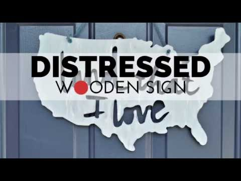 How to Make a Distressed Wooden Sign