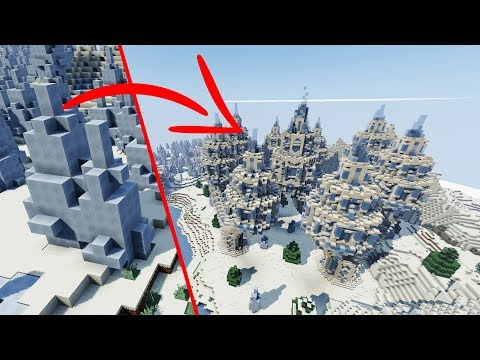 How to Build an EPIC Ice Temple in MINECRAFT | Spike-A-Saurus Timelapse