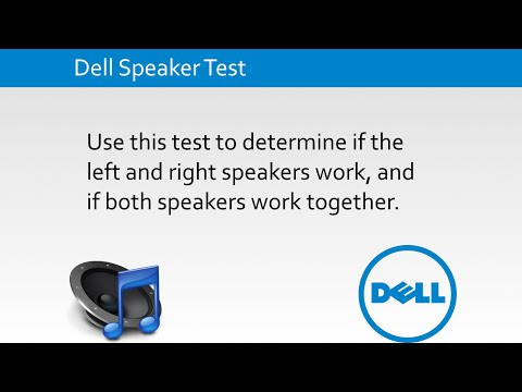 Dell Speaker Test