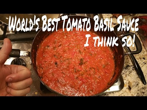How to make homemade tomato basil sauce!