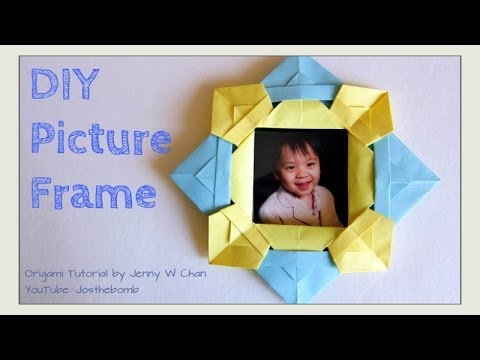 Paper Crafts - DIY Origami Picture Frame - How to Fold & Make a Picture Frame - Crafts Gift Idea