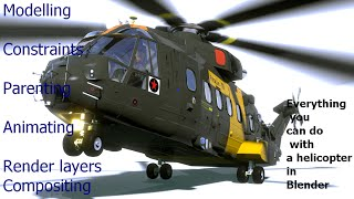 Helicopter modelling, rigging, animation, rendering and compositing in blender