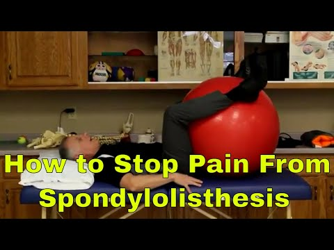 How to Stop Back Pain From Spondylolisthesis: 5 BEST Treatments