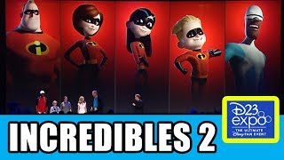The Incredibles 2 Cast Presentation At Disney D23 Expo
