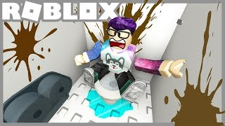Cleaning the DIRTIEST BATHROOM in Roblox!