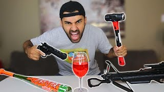 THIS CUP IS UNBREAKABLE!! IMPOSSIBLE CHALLENGE!! *YOU WON
