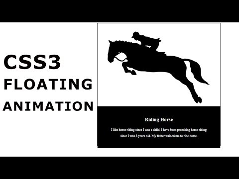 CSS3 Floating Animation Tutorial | CSS3 Animation Snippets