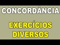 Concordância - Exercícios Comentados e Resolvidos