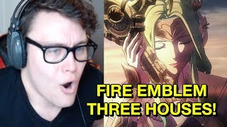 MY LIVE REACTION TO FIRE EMBLEM THREE HOUSES! NEW WAIFUS, TRADITIONAL GAMEPLAY! | RogersBase E3 2018
