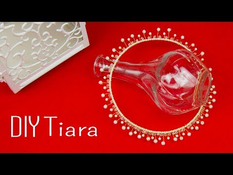 How to make  Pearl crystal Tiara | DIY  Bridal tiara | Hair accessories | Beads art