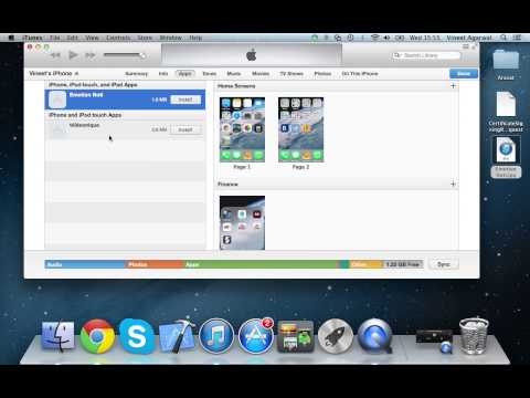 How to install an ipa or .ipa file on iphone, ipad, ipod device using itunes on a mac or windows pc