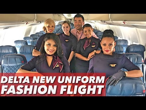 Fashion Takes Flight - Delta New Uniform Launch Flight!