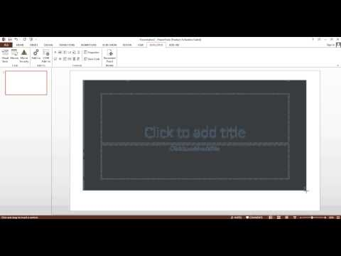 How to Insert Flash Applications or Animated Flash File in PowerPoint 2013?