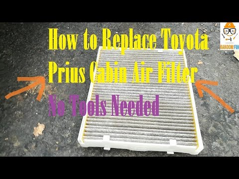 ▶️How to Replace 2016 2017 2018 Toyota Prius Cabin Air Filter, No Tools Needed, Under 2 Minutes