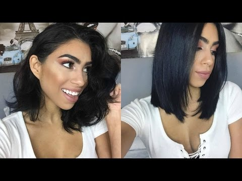 How to Blow-Dry Your Short Hair Straight