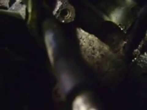Coolant leak at back of engine captured on video. at 1 min 8sec
