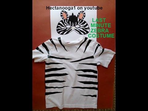 ZEBRA MASK, and Last Minute Zebra Costume
