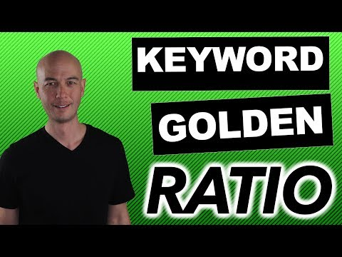 Keyword Golden Ratio for Amazon Affiliate Websites - Works for All Niche Sites