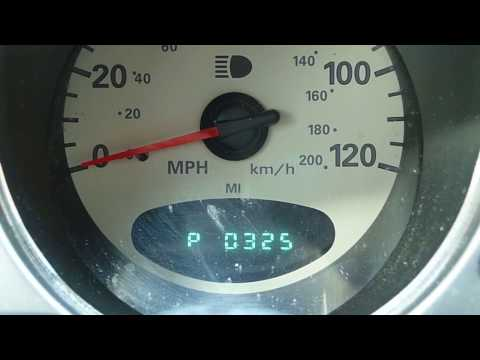 PT Cruiser ACTUAL Error Codes using Ignition Key and Odometer Display ...codes P0340 and P0325 seen