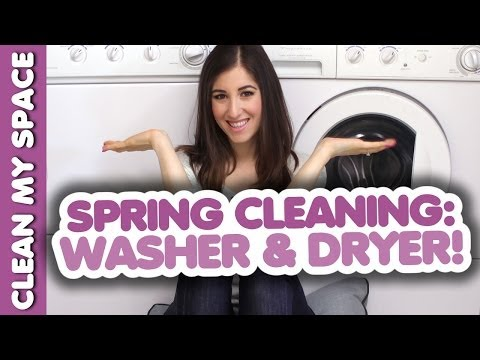 HOW TO CLEAN YOUR WASHER & DRYER! Simple & Fresh Laundry Cleaning Ideas (Clean My Space)