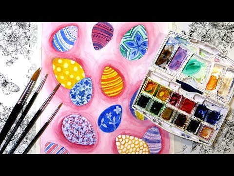 Easter Egg Watercolor Painting Tutorial for Beginners