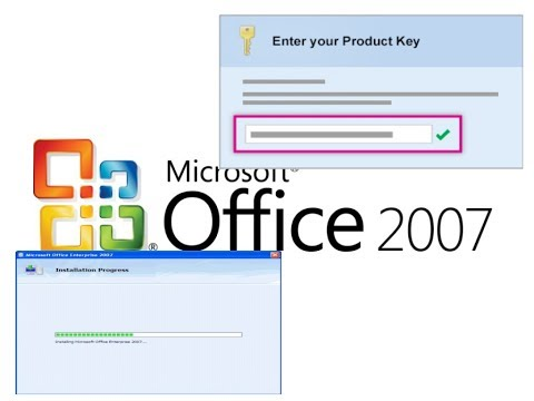 100% WORKING INSTALLATION OF MICROSOFT OFFICE 2007 [WITH PRODUCT KEY]