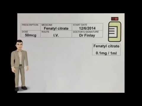Drug Calculations Fluid Dosage 50mcg Fenatyl citrate Q & A