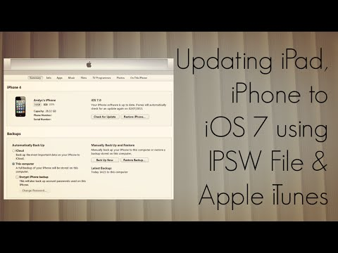 Updating iPad, iPhone to iOS 7 using IPSW File & Apple iTunes - How To Tutorial