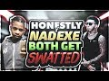 ME AND NADE GOT SWATTED SAME DAY LIVE BOOTERS ARE CRUEL 😩 !!