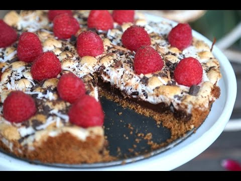 Raspberry Smores Cake Recipe - Easy Tart Recipe - Heghineh Cooking Show