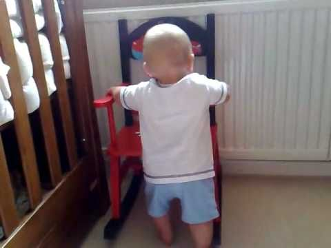 11 month old baby learning to stand / walk