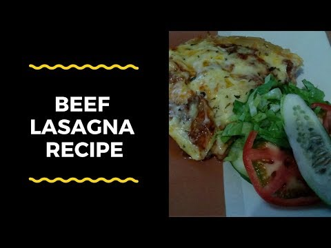 How To Make Beef Lasagna At Home - Super Fast / Easy