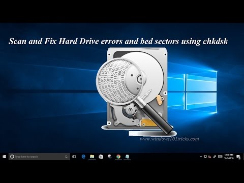 How To Scan and Fix Hard Drive errors and bad sectors using chkdsk