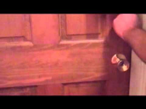 how to lock a door with 12 pennies. (: