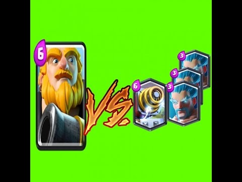 3 ice wizard and sparky VS Royal Giant !!!