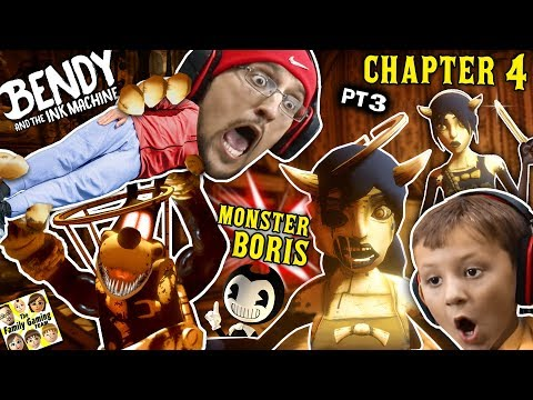 BORIS the MONSTER WOLF & Two Alice Angels? Bendy & the Ink Machine BOSS Fight (FGTEEV Chapter 4 #3)