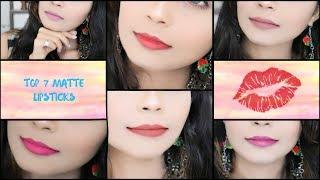 Top 7 Affordable Matte Lipsticks | Best top 7 matte lipsticks in india | Rinkal Soni