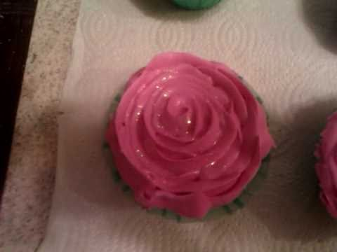 Rose Top Bath Bomb Cupcakes.3gp