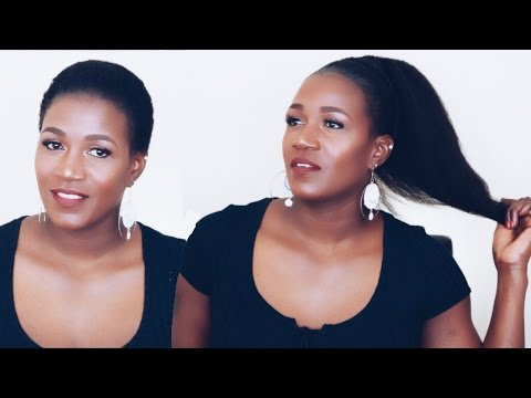Clip Ins Ponytail On Short Natural Hair | Betterlength Clip Ins